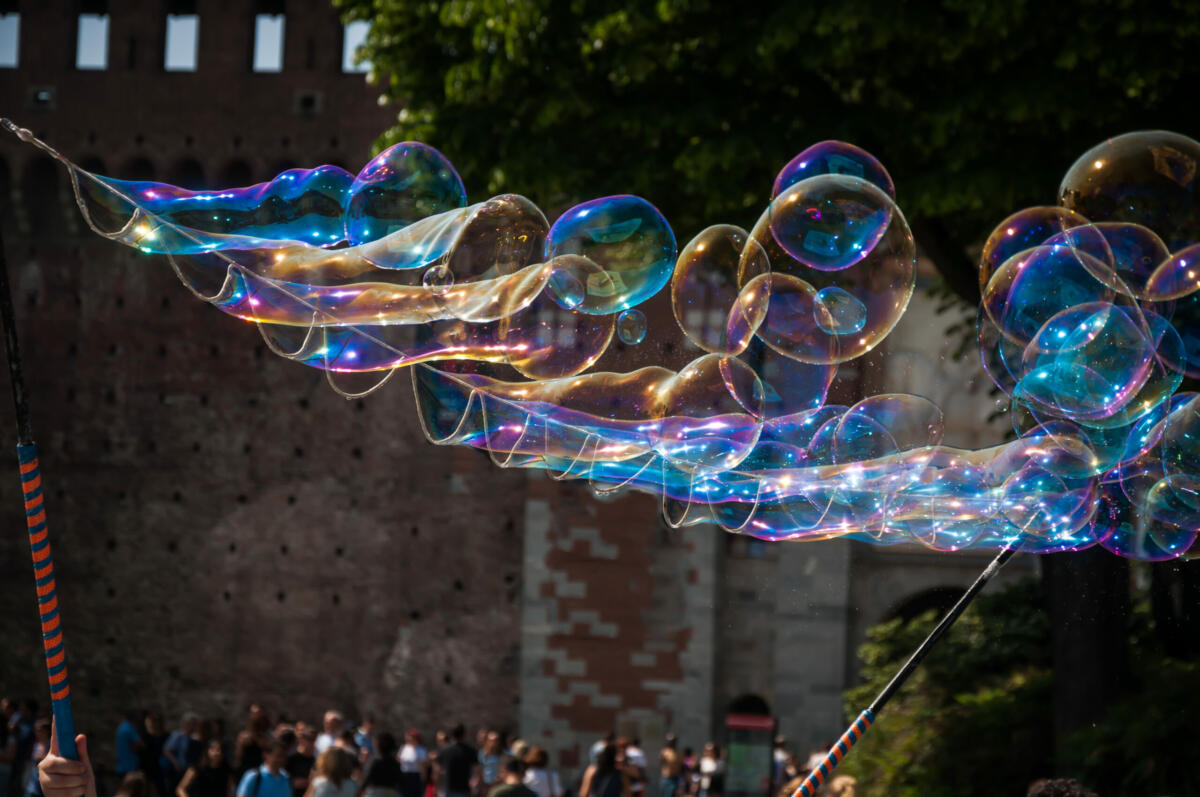 Big soap bubbles