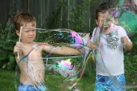 plezier met zeepbellen